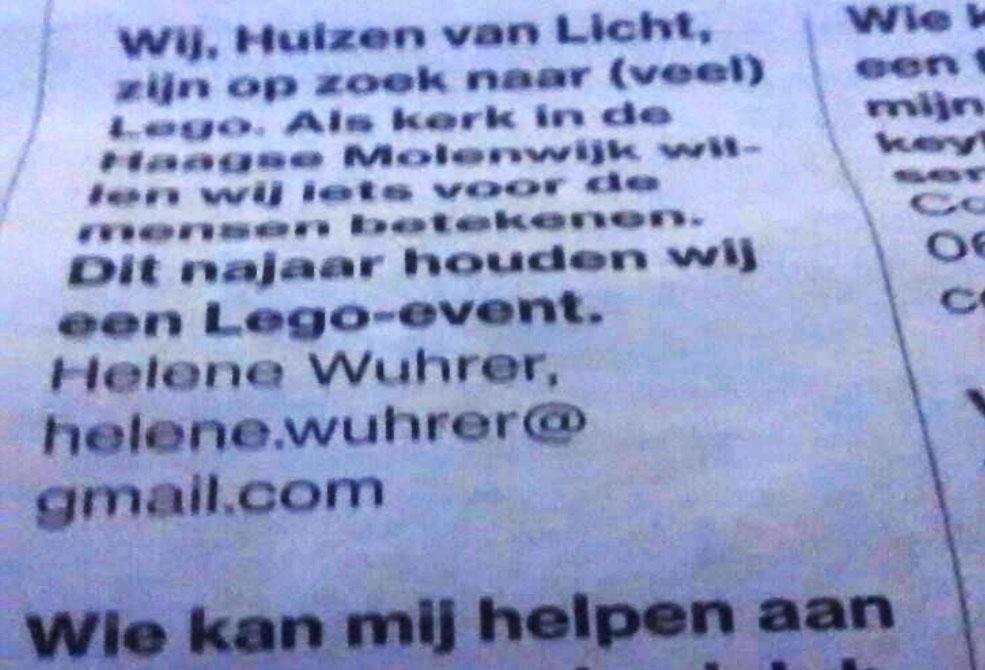 Media LEGO gezocht